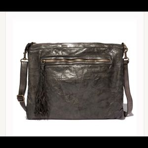 Johnny Was Allegra Washed Leather Crossbody Bag